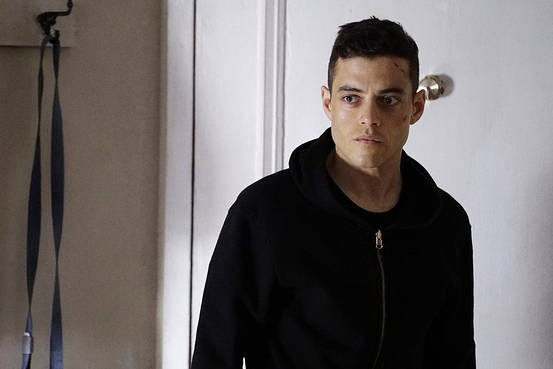 Rami Malek in USA's Mr. Robot.