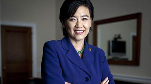 Representative Judy Chu, who is among several lawmakers urging the State of California to apply for federal money for data disaggregation of AAPI demographic data.