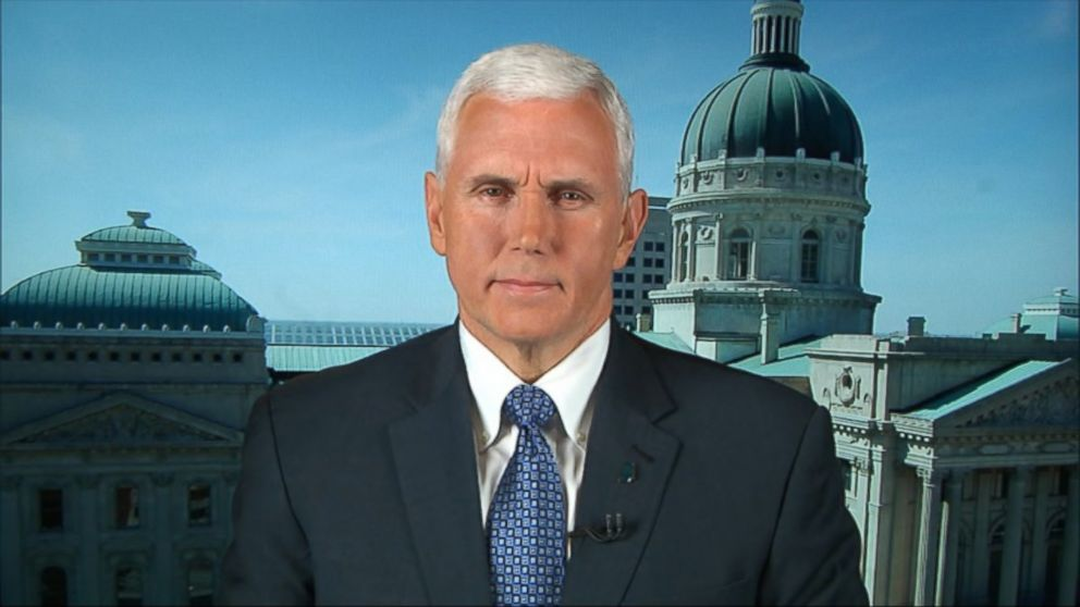 Indiana governor and Trump running-mate, Mike Pence.