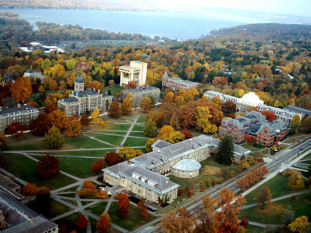 Cornell University's beautiful campus.