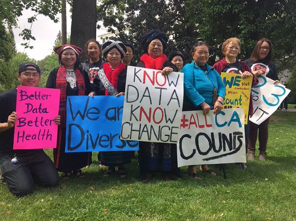 Attendees at a recent rally in support of AB1726, a data disaggregation scheduled to reach the CA Senate floor soon. (Photo Credit: @DiverseElders / Twitter )