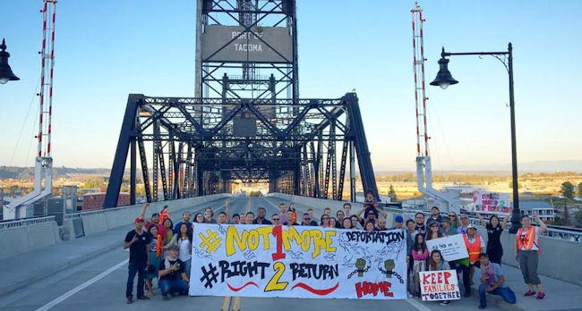 Organizers in Tacoma. (Photo Credit: 1Love Movement)