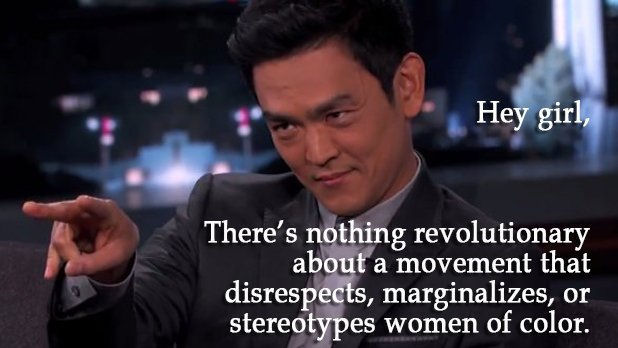 From #FeministJohnCho (Photo Credit: Twitter / 18MR).