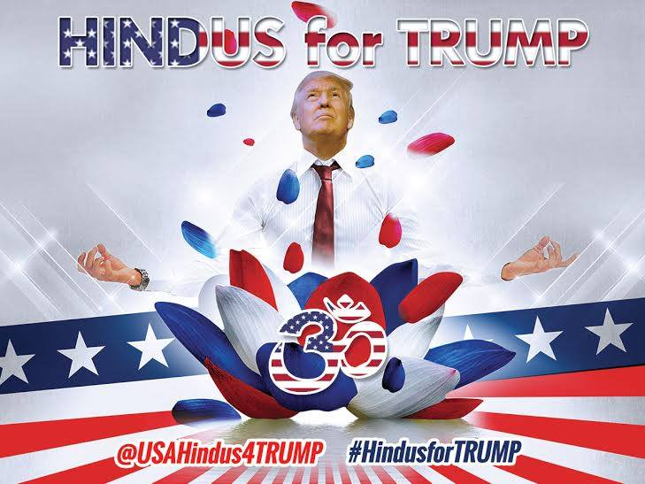 The official poster for Hindus for Trump. (Photo credit: Hindus for Trump Facebook page.)