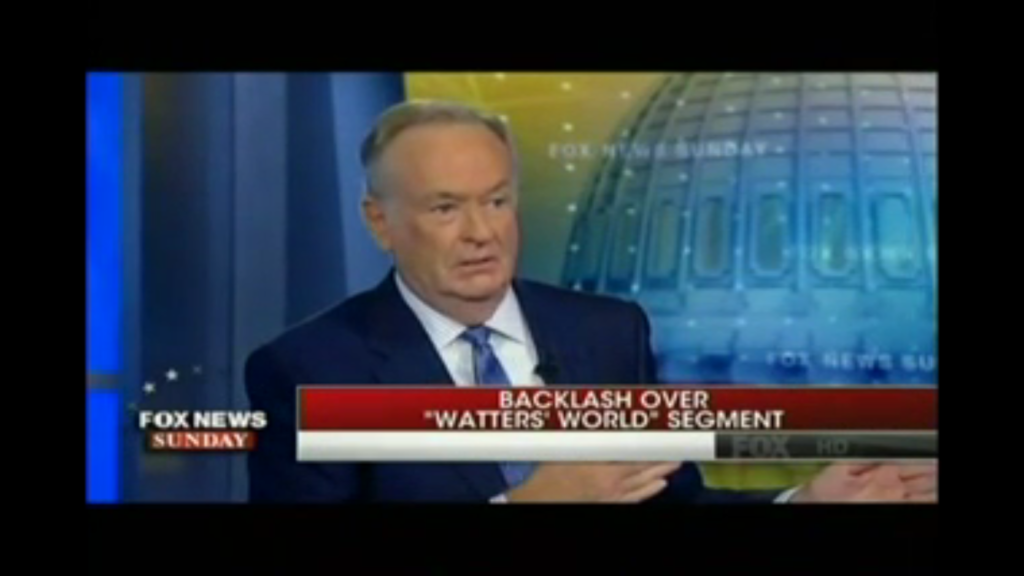 Bill O'Reilly defends a 'Watters' World' segment widely denounced as racist on the October 9, 2016 episode of Fox News Sunday. (Photo Credit: Fox News via video posted by Media Matters)