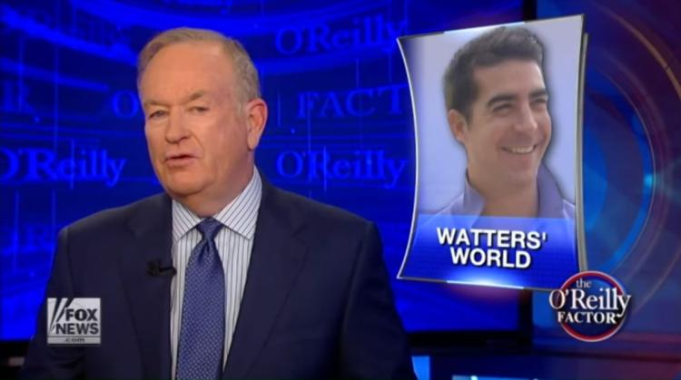 "Bill O'Reilly interviews a segment of ""Watters' World"" on The O'Reilly Factor (Photo credit: Fox News / YouTube)"