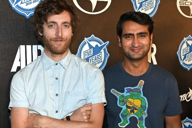 HBO's Silicon Valley's Thomas Middleditch (left) and Kumail Nanjiani (right). (Photo credit: Getty)
