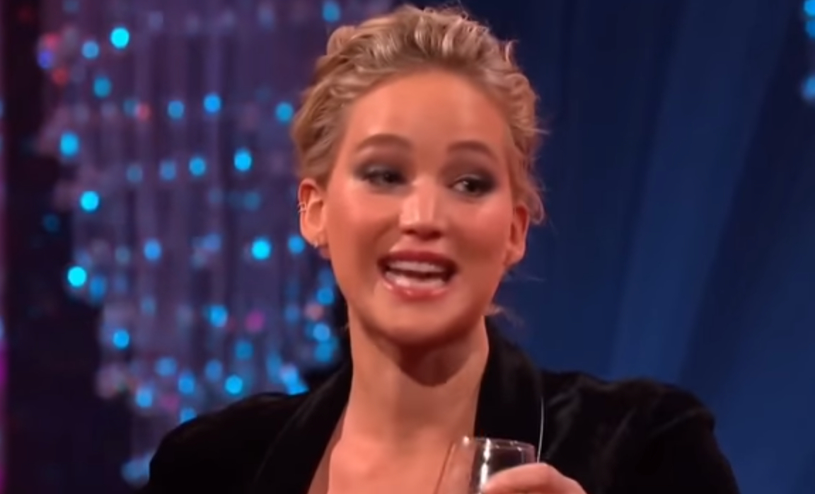 Actress Jennifer Lawrence in a recent appearance on The Graham Norton Show. (Photo credit: YouTube / Graham Norton Show)