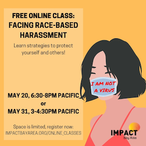 Ad for online classes through Impact Bay Area